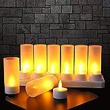 Velas LED sin Llama 12 Velas Recargables Luces...