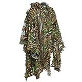 MBLUE 3D Selva Sniper Set Camping Caza Camuflaje Poncho de observación de Aves Ghillie Suit