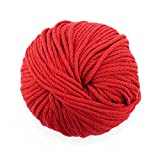 JubileeYarn Bamboo Cotton Chunky Yarn - Red Hot Red - 2 Skeins