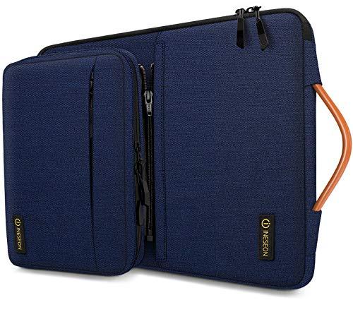 iNeseon 14 Zoll Laptop Hülle Tasche für 14 Zoll Acer ASUS Dell HP Lenovo Huawei Chromebook Ultrabook, Schutzhülle Tragetasche Notebooktasche mit Griff und Abnehmbarer Zubehörtasche, Dunkelblau