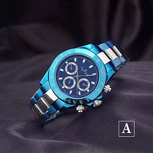HHBB Marca de lujo hombres automático mecánico azul platino tela de lona acero inoxidable zafiro deporte relojes Aaa+ 1