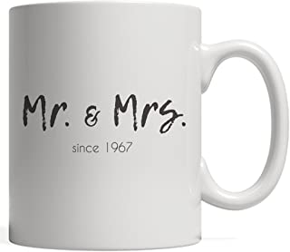 Mr. And Mrs. Since 1967 Marriage Mug - Cute Funny 51st Wedding Birthday Gift For Happy Married Couple Mr And Mrs Celebrating 51 Years Of Marriage! Love Anniversary Present For Husband And Wife