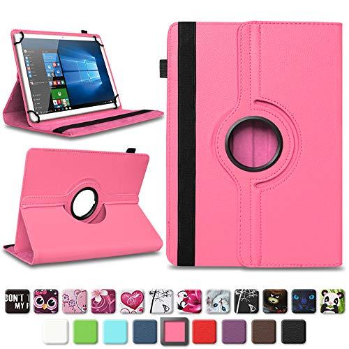 NAmobile Tablet Tasche kompatibel für Wortmann Terra Pad 1006 Hülle Schutzhülle Tablettasche mit Standfunktion 360 Crad drehbar Universal Tablethülle, Farben:Pink