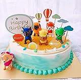 Caricatura Cake Topper/Mini Juego de Figuras, Topper de Tarta Decoración para Pasteles, Fiesta de Cumpleaños DIY Decoración Suministros(6 Piezas)