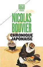 Chronique japonaise de Nicolas Bouvier