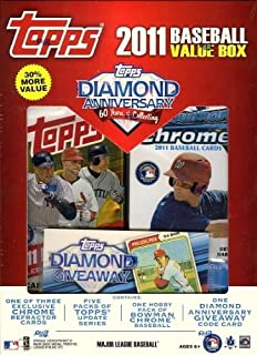 2011 Topps MLB MEGA Box with EXCLUSIVE Bowman Chrome Bryce Harper Refractor Rookie Plus a Diamond Giveway Card+ Bowman Chrome HOBBY Pack+5 Topps Update Packs !