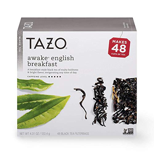 Tazo Tea Bags For a Bold and Delightful Traditional Breakfast-Style Black Tea Black Tea With High Caffeine 48 Count, Pack of 4