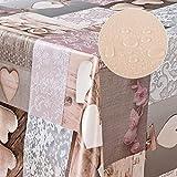 laro Wachstuch-Tischdecke Abwaschbar Garten-Tischdecke Wachstischdecke PVC Plastik-Tischdecken Eckig Meterware Wasserabweisend Abwischbar |09|, Größe:100x140 cm - 4