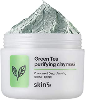 [SKIN79] Green Tea Purifying Clay Mask 3.38 fl.oz. (100ml) - Sebum Control & Pore Care Scrub Wash off Mask, Remove Dead Skin Cells, Skin Soothing & Moisturizing Mask for Oily and Acne Skin
