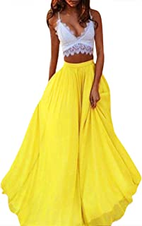 Amazon.es: Amarillo - Faldas / Mujer: Ropa