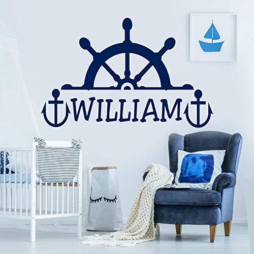 Adhesivo de pared para niño y niña, adhesivo de vinilo para habitación de niños, mural, decoración náutica