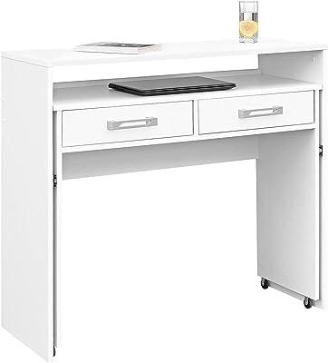 Commifort Bureau pour jeunes extensible, table d'ordinateur, tables d'étude, bureaux de bureau (Blanc)