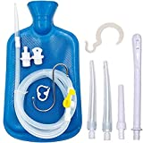 Smokitcen Enema Kit – 2L Enema Bag– 5.0ft. Long Silicone Hose – 5 Multi-Size Reusable Tips – Controlled Water Flow – for Colon Detox Cleanse Enemas