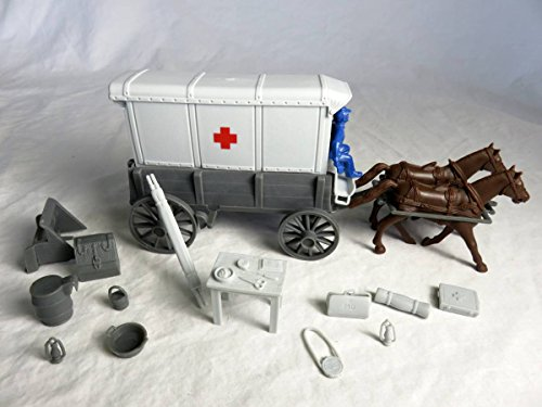 Classic Toy Soldiers Civil War Medical Wagon with Union Driver