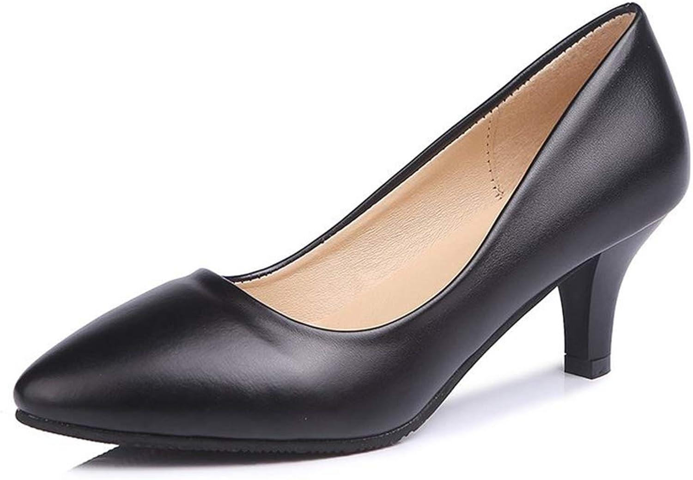 QXH Women's Heel Pumps - Classic Pointy Toe Slingback Comfortable Dress Pump shoes
