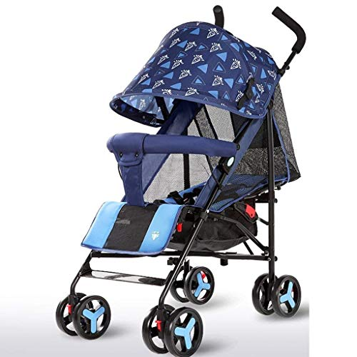 Best Deals! LLYU Summer Pushchair Push Lightweight Foldable Can Sit/Lie Children's Trolley Full Netw...