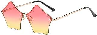/Super Cute Star Shape Rimless Sunglasses Metal Frame Transparent Candy Color Eyewear