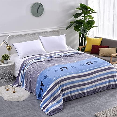 KLily Varios Patrones De Mantas De Felpa, Mantas De Siesta Agradables para La Piel del Dormitorio, Mantas De Aire Acondicionado De Oficina para Las Piernas