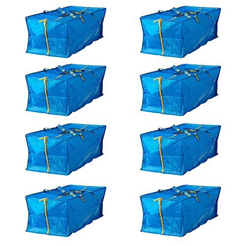 Ikea 901.491.48 Frakta Storage Bag, Blue, 8 Pack