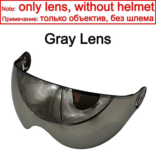 IAMZHL Skihelm Männer Frauen Skihelm Outdoor Sport Snowboard/Skateboard Helm-Gray Lens-0-L
