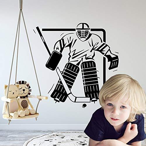 wZUN Etiqueta engomada clásica del Hockey Papel Pintado de Vinilo Impermeable Decoración del hogar Tatuajes de Pared Mural de la habitación de los niños 42x42cm