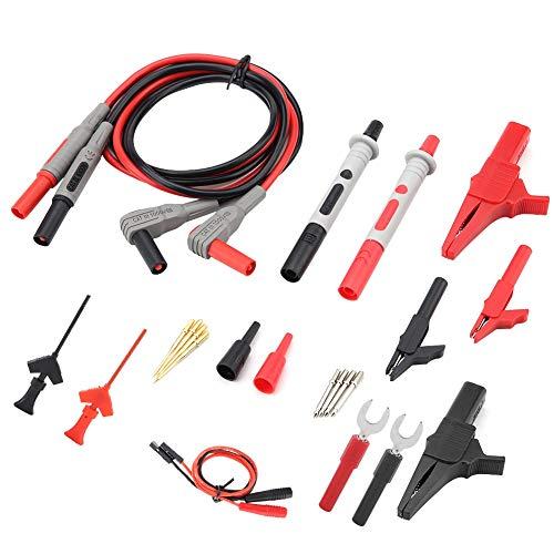 Cables de multímetro electrónico automotriz apilables, kits de cables de prueba, para Fluke Cables de prueba de multímetro digital Multímetro digital Fluke