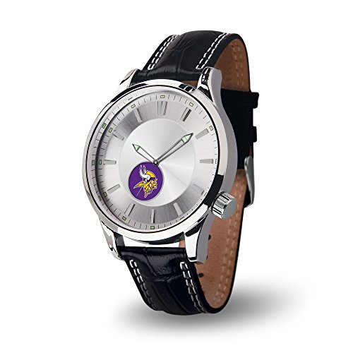 NFL Minnesota Vikings Icon Watch, Black