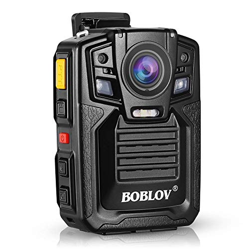 Body Worn Camera with Audio 128GB, BOBLOV 1296P Police Body Cameras for Law Enforcement, Security Guard, Waterproof Body Mounted Cam DVR Video IR with Night Vision, 170° Wide Angle
