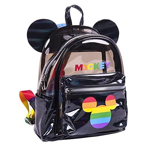 CERDÁ LIFE'S LITTLE MOMENTS 2100003374, Zaino Zainetto Topolino Pride-Licenza Ufficiale Disney Unisex-Adulto, Multicolore, Estándar