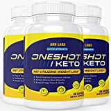 (3 Pack) One Shot Keto Pills Oneshot Keto 1 Shot Fat Advanced Formula Supplement As Seen on TV (270 Capsules) by Lightning Labs