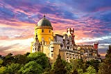 Jigsaw Puzzles For Adults 1000 Piece Pena National Palace Portugal Decoration For The Home Toy Game Wooden Assembling
