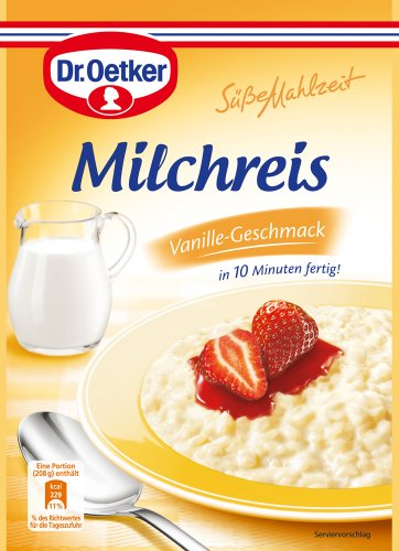 Dr. Oetker Milchreis Vanille-Geschmack, 8er Pack (8 x 125 g)