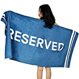 Riverbyland Cotton Plush Beach Towel Blanket Blue Reserved