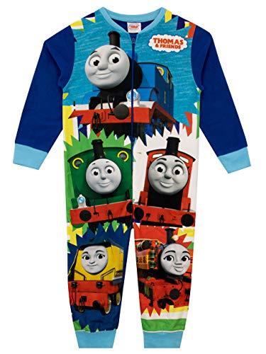 Thomas & Friends Pijama Entera para niños Thomas The Tank Engine Azul 5-6 años