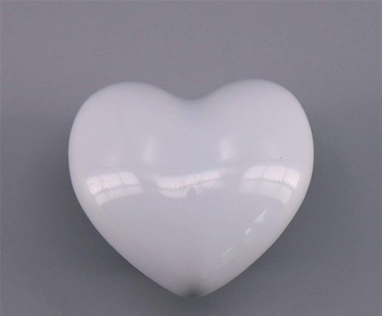 HHTC Tirador de un cajón, 1 pedazo blanco, azul, rosa botón del gabinete de cerámica cajón de zapatos de color amarillo cáscara extractor corazón cuadrado cocina en forma de manija de la puerta del ga