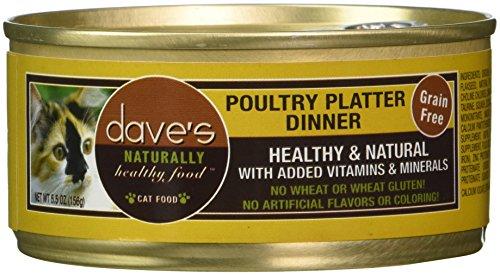 Dave'S Pet Food Poultry Platter Food (24 Cans Per Case), 5.5 Oz.