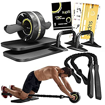 Amazon - 20% Off on  Ab Roller Wheel, 6 in 1 Ab Roller kit with Knee Pads