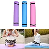 lyqdxd - Esterilla de yoga antideslizante, 4 mm de grosor, para ejercicios y fitness, color morado, tamaño As picture