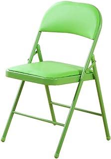 RONGJJ Silla de Escritorio Silla Plegable Respaldo para el hogar Asiento de Comedor Oficina portátil Silla de Oficina Acolchada Escritorio Reposabrazos Silla de Escritorio (Verde),
