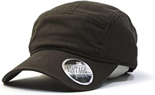 Washed Cotton Twill Adjustable Camper Caps