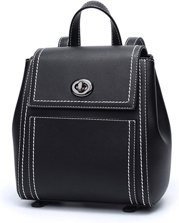 HUIMIN Rucksack-weibliche PU-Leder-Mode-einfache College-Wind-Mini-Schultasche (Farbe   A)