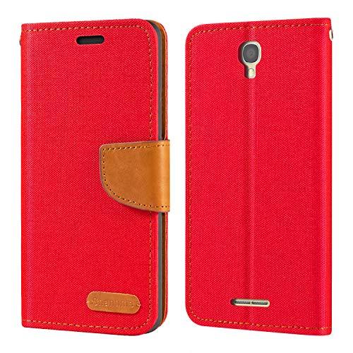 Alcatel One Touch Pop Star 4G 5070X 5070D Hülle, Oxford Leder Wallet Hülle mit Soft TPU Back Cover Magnet Flip Hülle für Alcatel One Touch Pop Star 4G 5070X 5070D