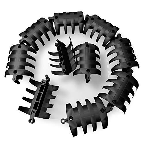 Set mit 10 Elementen wire-snake Kabelkanal schwarz | Kabelführung für Schreibtisch, Arbeitstisch, Werkbank