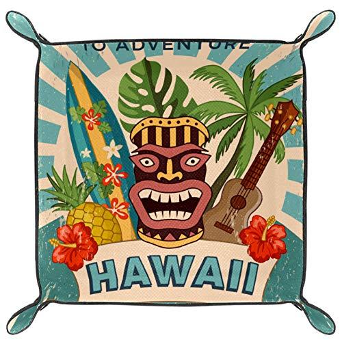 Würfeltablett, faltbares Tablett aus PU-Leder für RPG-Würfel, Gaming und andere Brettspiele, Hawaii-Party