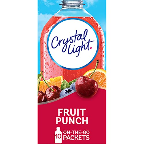 Crystal Light Fruit Punch Drink Mix, 0.9 Ounce (Pack of 6)