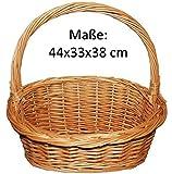 Präsentkorb, Weidenkorb, Geschenkkorb, Körbchen, Natur - Größe L (44x33x38)