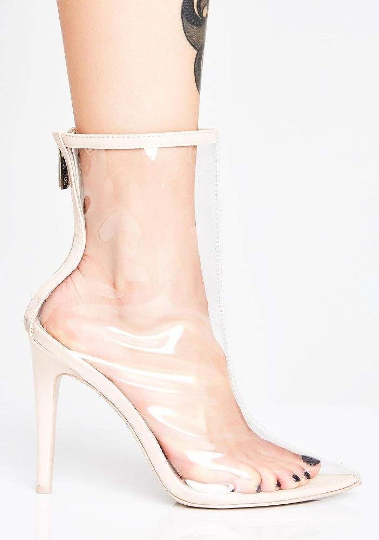 QINGMM Frauen Transparente Spitze Stiefeletten 2018 Herbst High-Heel High-Heel High-Heel Stiefel Größe 33-48  efac14
