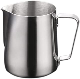 THW Stainless Steel Milk Frothing Latte Pourer Cappuccino Coffee Jug, 150 ML
