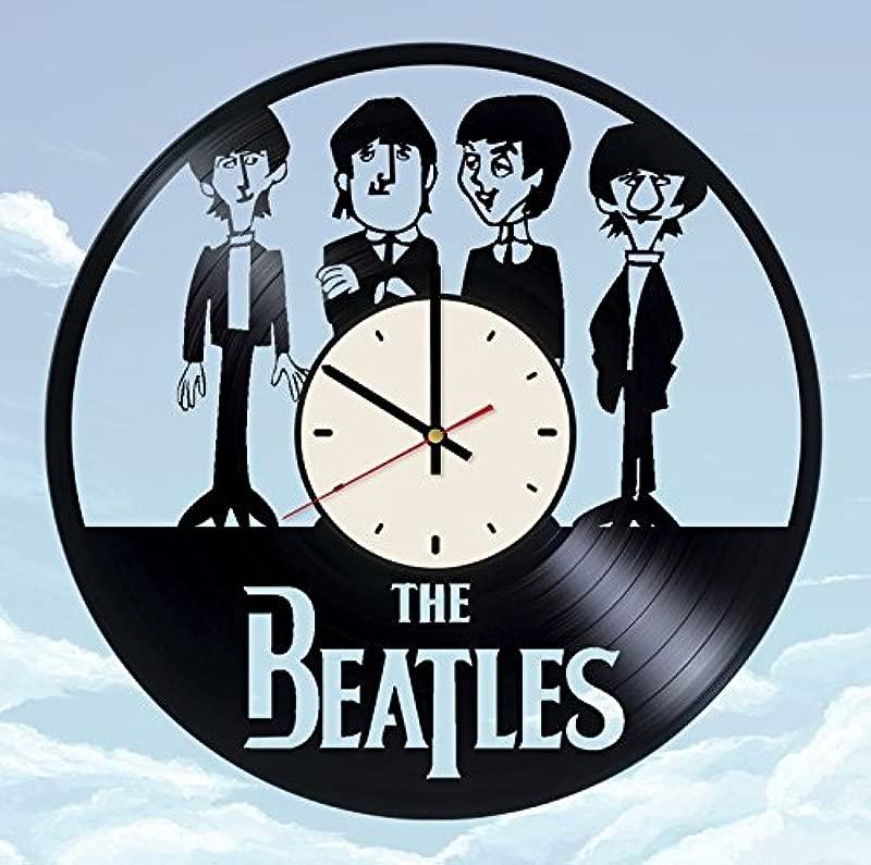 The Beatles Vinyl Wall Clock Funny Unique Gifts Living Room Home Decor