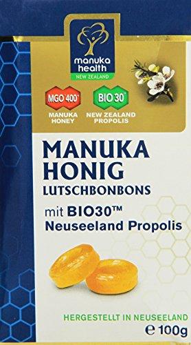 Manuka Health MGO 400 plus Propolis Lutschbonbons, 1er Pack (1 x 100g)